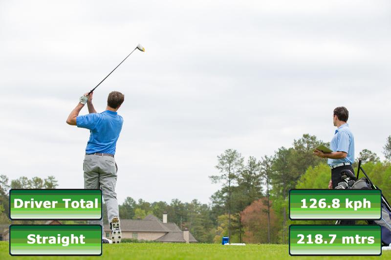 données techniques de l'ES12 associées à la vidéo du swing de golf